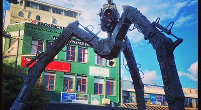 Photo of Outdoor Sculpture Tripod at Courtenay Place, Wellington, New Zealand