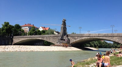 Photo of Beach Isarstrand Wittelsbacherbrücke at Isarstrand, München 81543, Germany