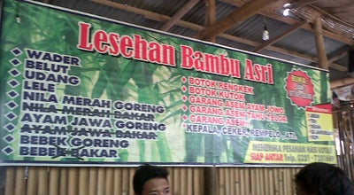 Photo of Asian Restaurant Lesehan bambu asri at Indonesia