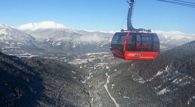 Photo of Ski Chairlift PEAK 2 PEAK Gondola at Whistler And Blackcomb Mountains, Whistler, BC, Canada