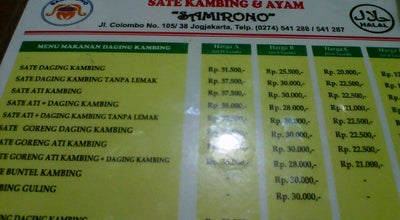 "Photo of BBQ Joint Sate Kambing & Ayam ""SAMIRONO"" Sleman at Jln. Raya Magelang Km 7 Sleman - Yogyakarta, Yogyakarta, Indonesia"