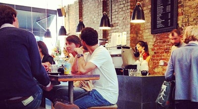 Photo of Coffee Shop Kaffeine at 66 Great Titchfield St, London, Greater London W1W 7QJ, United Kingdom