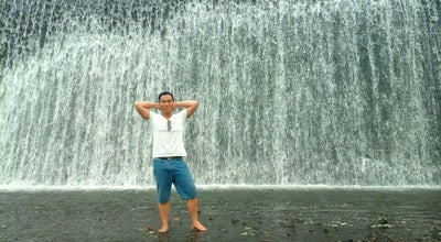 Photo of Bridge Tukad Unda Waterfall at Indonesia