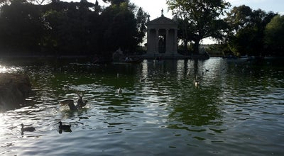 Photo of Lake Laghetto delle barche di Villa Borghese at Rome, Latium, Italy