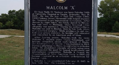 Photo of Historic Site Malcolm X  Birthsite at 3448 Pinkney St, Omaha, NE 68111, United States