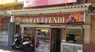 Photo of Dessert Shop Osman Efendi Dondurma ve Tatlı Evi at Gümüşpala Cad. No:53, Tire 35900, Turkey
