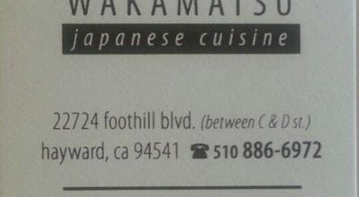 Photo of Sushi Restaurant Wakamatsu at 22724 Foothill Blvd, Hayward, CA 94541, United States