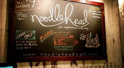 Photo of Ramen / Noodle House Noodlehead at 242 S Highland Ave, Pittsburgh, PA 15206, United States
