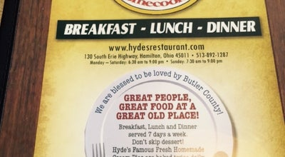 Photo of Diner Hyde's Restaurant at 130 S Erie Hwy, Hamilton, OH 45011, United States