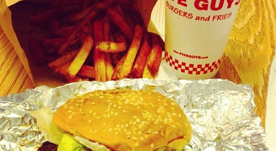 Photo of Burger Joint Five Guys Burgers & Fries at 43 W 55th St, New York, NY 10019, United States