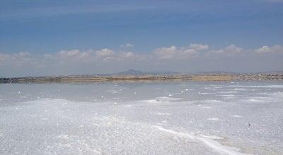 Photo of Lake Aliki salt lake at Cyprus