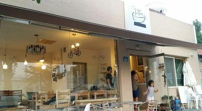 Photo of Coffee Shop 지붕위에 커피잔 at South Korea
