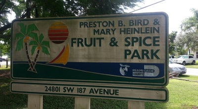 Photo of Park Fruit & Spice Park at 24801 Sw 187th Ave, Homestead, FL 33031, United States