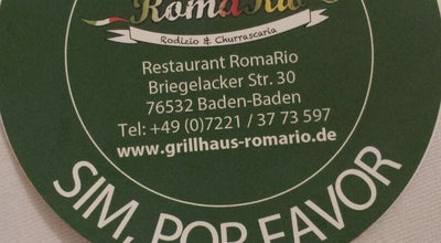 Photo of Brazilian Restaurant Restaurant RomaRio at Briegelacker Str. 34, Baden-Baden 76532, Germany