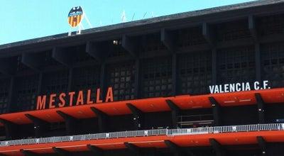 Photo of Soccer Stadium Camp de Mestalla at Av. De Suècia, València 46023, Spain