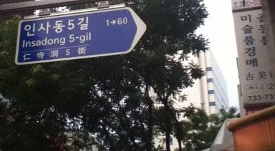 Photo of Road 인사동길 (Insadong-gil) at 종로구 인사동길, 서울특별시 110-290, South Korea