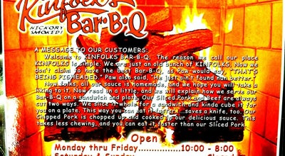 Photo of BBQ Joint Kinfolks Bar-B-Q at 333 Racetrack Rd Nw, Fort Walton Beach, FL 32547, United States