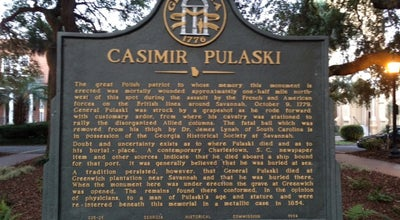 Photo of Monument / Landmark Pulaski Monument at Monterey Square, Savannah, GA 31401, United States
