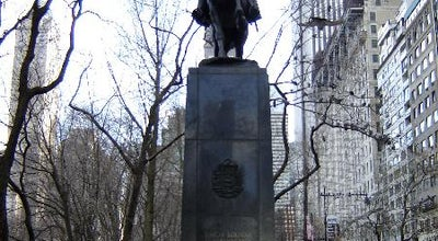 Photo of Outdoor Sculpture Simon Bolivar Statue at Central Park South, New York, NY 10022, United States