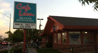 Photo of Mexican Restaurant Cafe Leon Mexican Food at 4239 N Blackstone Ave, Fresno, CA 93726, United States