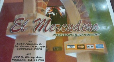 Photo of Mexican Restaurant El Merendero Restaurant at 242 S Garey Ave, Pomona, CA 91766, United States
