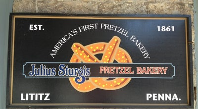 Photo of Bakery Julius Sturgis Pretzel Bakery at 219 E Main St, Lititz, PA 17543, United States
