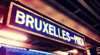 Photo of Train Station Gare de Bruxelles-Midi / Station Brussel-Zuid at Avenue Fonsnylaan 47, Saint-Gilles / Sint-Gillis 1060, Belgium