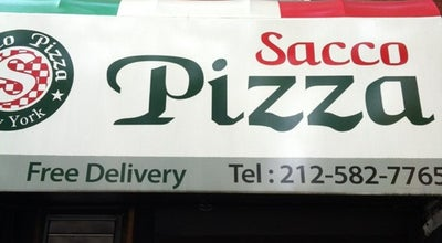 Photo of Pizza Place Sacco Pizza at 819 9th Ave, New York, NY 10019, United States