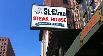 Photo of Steakhouse St. Elmo Steak House at 127 S. Illinois, Indianapolis, IN 46225, United States