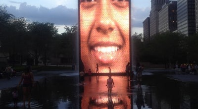Photo of Outdoor Sculpture Crown Fountain at Michigan Ave, Chicago, IL 60602, United States
