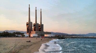 Photo of Beach Platja del Litoral at Sant Adrià de Besòs, Spain