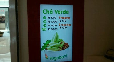Photo of Ice Cream Shop Yogoberry Original at Shopping Iguatemi Alphaville, Barueri 06454-913, Brazil