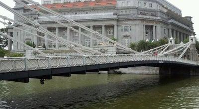 Photo of Bridge Cavenagh Bridge at Singapore River, Singapore, Singapore