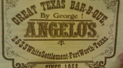 Photo of BBQ Joint Angelo's at 2533 White Settlement Rd, Fort Worth, TX 76107, United States