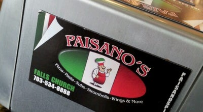 Photo of Pizza Place Paisano's Pizza at 244 West Broad Street, Falls Church, VA 22046, United States
