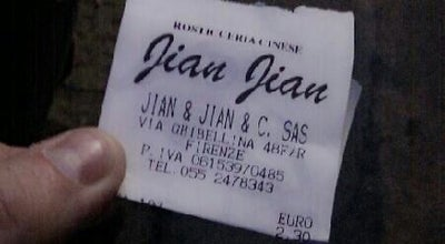 Photo of Chinese Restaurant Jian Jian at Via Ghibellina, 48-red, 50122 Firenze, Firenze 50122, Italy