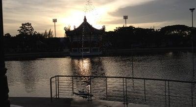 Photo of Park สวนตำหนักน้ำ at ริมทะเลหน้าศาล, อ.เมือง, Thailand