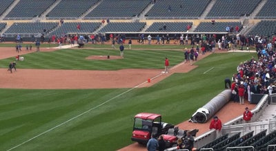 Photo of Baseball Field On Field At Target Field at Minneapolis, MN, United States