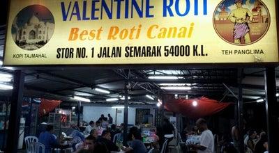 Photo of Indian Restaurant Valentine Roti at 1 Jalan Semarak, Kuala Lumpur 54000, Malaysia