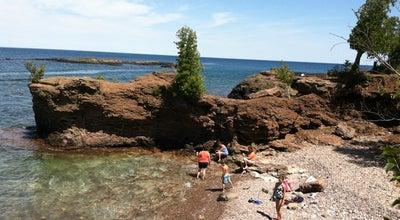 Photo of Beach Presque Isle Beach at Lake Superior, Marquette, MI, United States