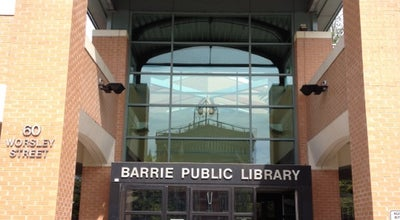 Photo of Library Barrie Public Library at 60 Worsley St., Barrie, On L4M 1L6, Canada