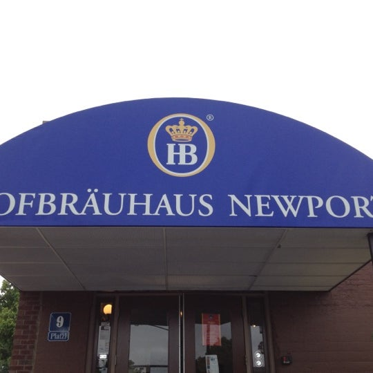 Photo taken at Hofbräuhaus Newport by Matthew C. on 4/21/2012