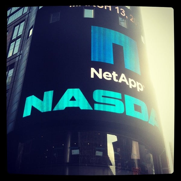 Photo taken at Nasdaq Marketsite by Winn C. on 3/13/2012