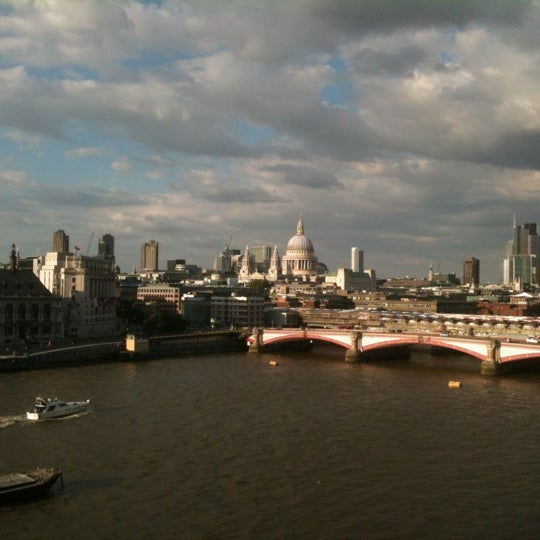 Photo taken at OXO Tower Brasserie by Shawn C. on 7/28/2012