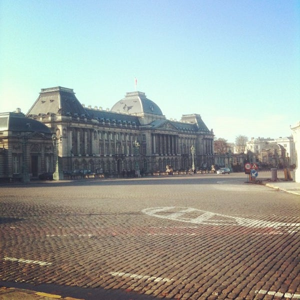 Photo taken at Paleizenplein / Place des Palais by Funky R. on 12/5/2011
