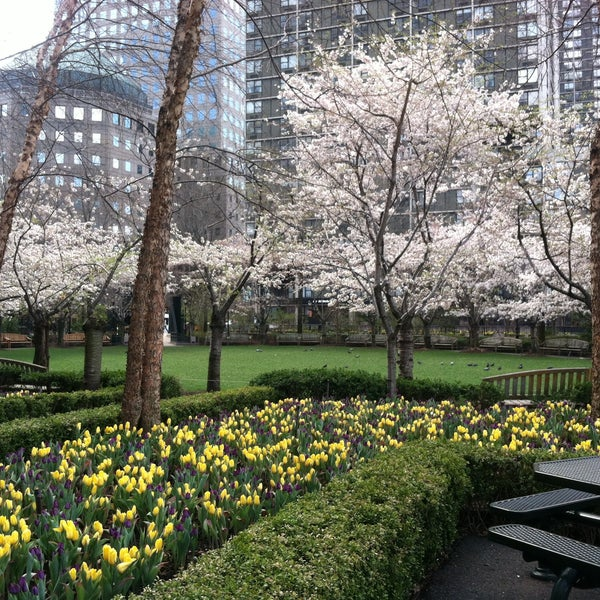 Photo taken at Battery Park City Esplanade by Monica S. on 4/15/2013