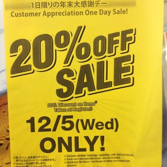Photo taken at Mitsuwa Marketplace by James L. on 12/6/2012