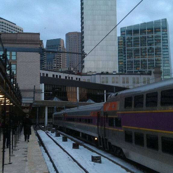 Photo taken at MBTA South Station by Eric B. on 2/19/2013