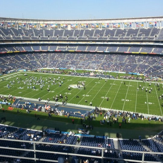 Photo taken at Qualcomm Stadium by Fernando G. on 11/25/2012