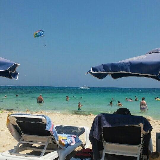 Photo taken at Makronissos beach by George B. on 7/29/2016